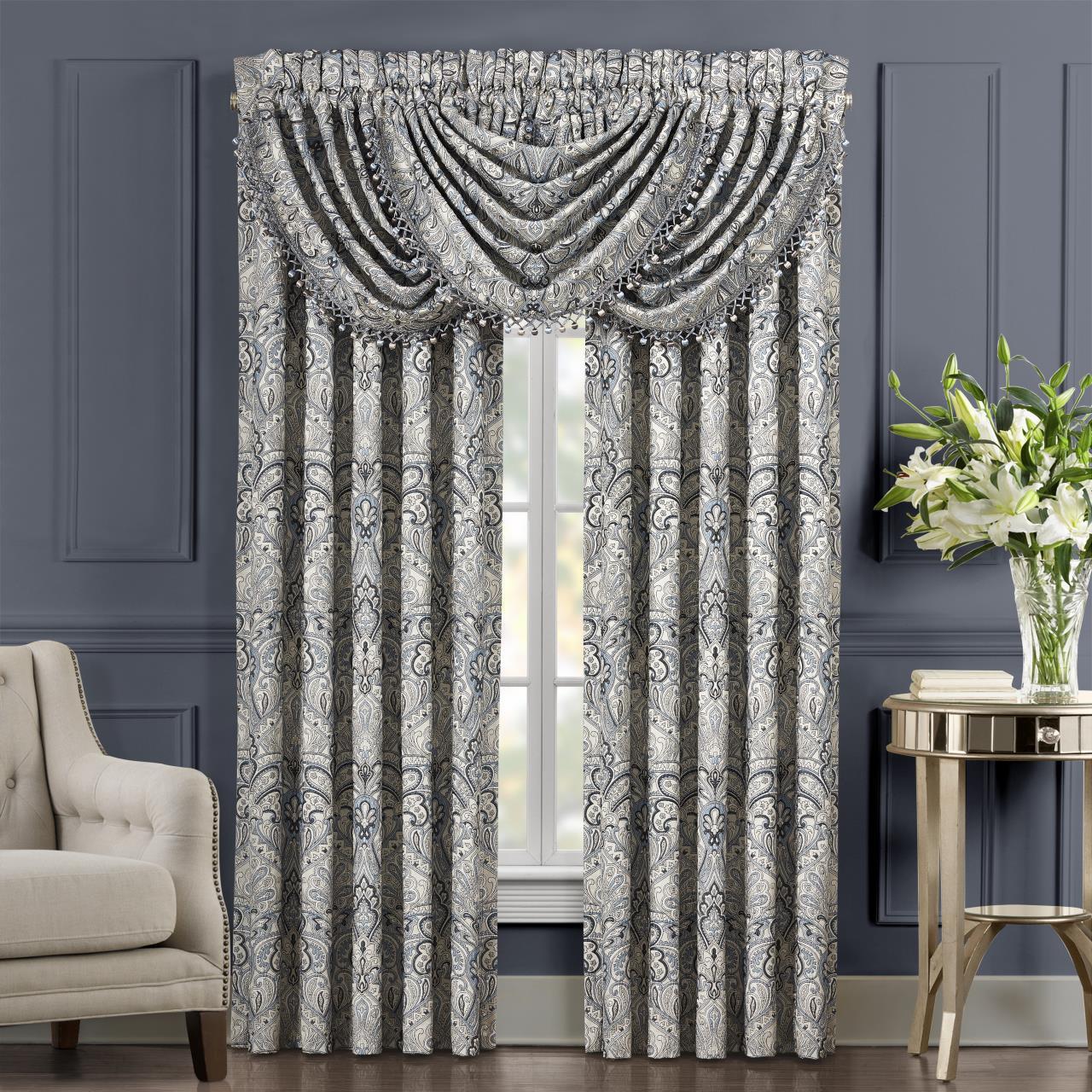 Alexis Powder Blue Curtain Pair - 193842108604