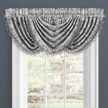 Alexis Powder Blue Waterfall Valance - 193842108659