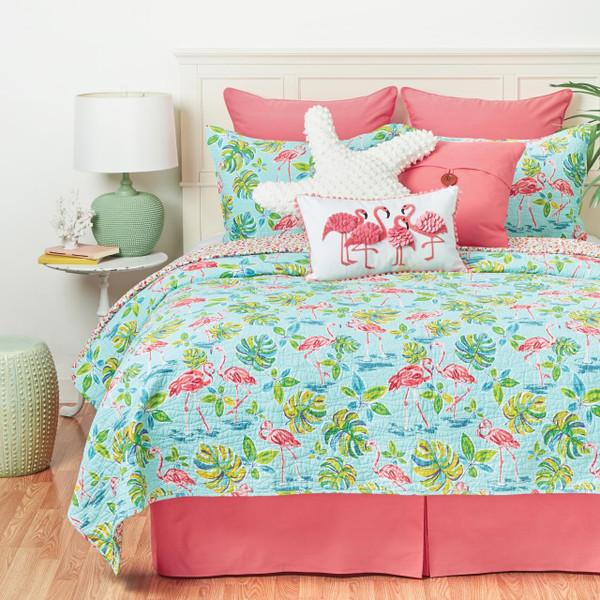 Flamingo Garden Quilt Collection -