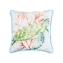 Colorful Sea Turtle Pillow - 008246739692