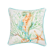 Colorful Seahorse Pillow - 008246739814
