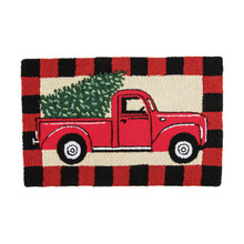Red Truck Plaid Rug - 008246741404