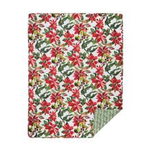 Poinsettia Berries Throw - 008246747673