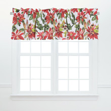 Poinsettia Berries Valance - 008246747680