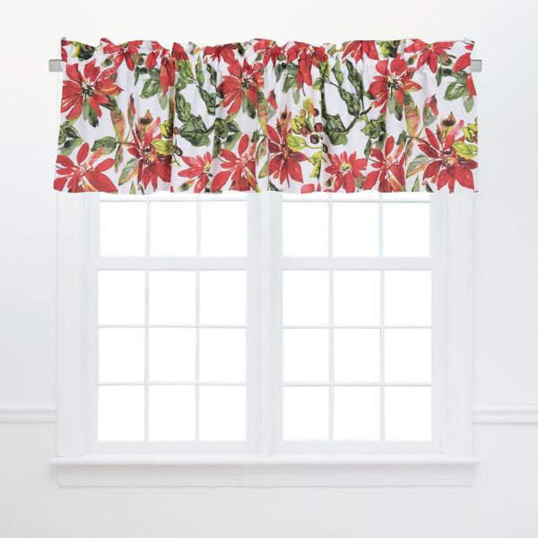 Poinsettia Berries Valance - 008246747680