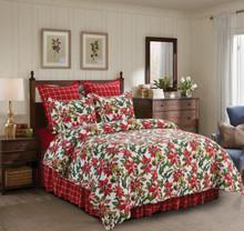 Poinsettia Quilt Set - 008246738336