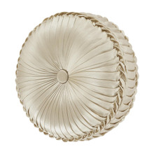 Blossom Ivory Tufted Round Pillow - 193842110089