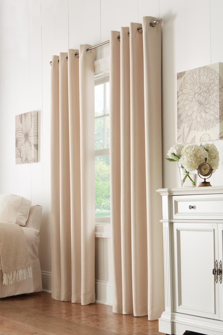 Antique Satin Thermaplus Blackout Grommet Curtain - 695565082556