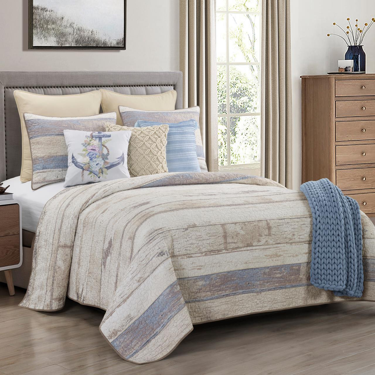 Bleached Boardwalk Quilt Collection -