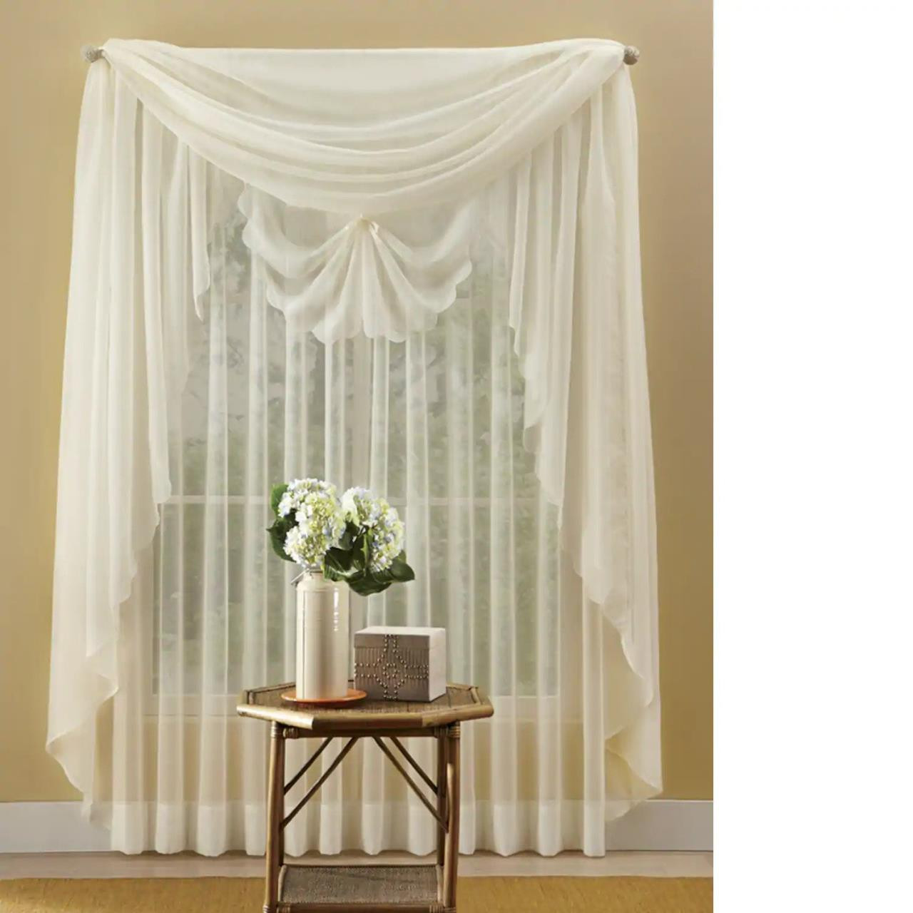 Emelia Voile Sheer Lace Curtain - #REF!