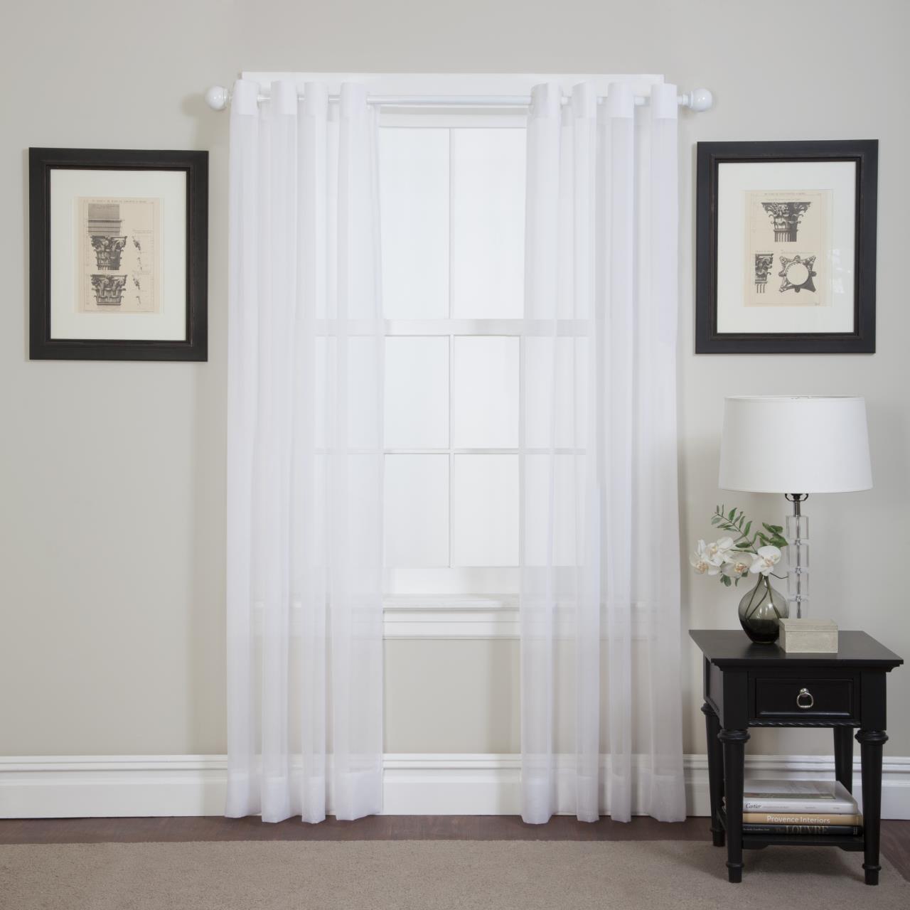 Emelia Sheer Grommet Lace Curtain - 647506018797