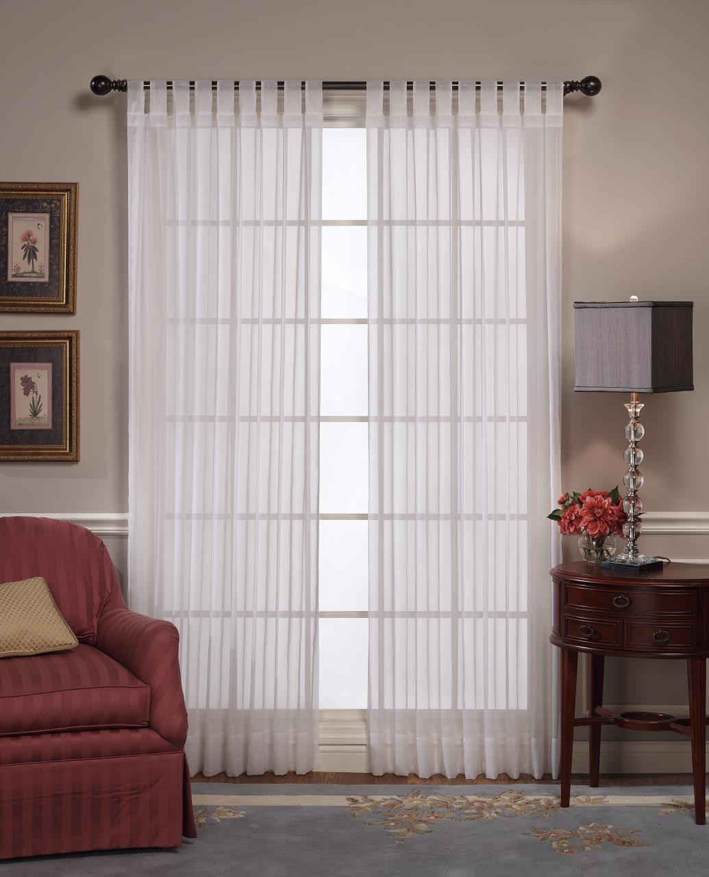 Emelia Tab Top Lace Curtain - 647506013587