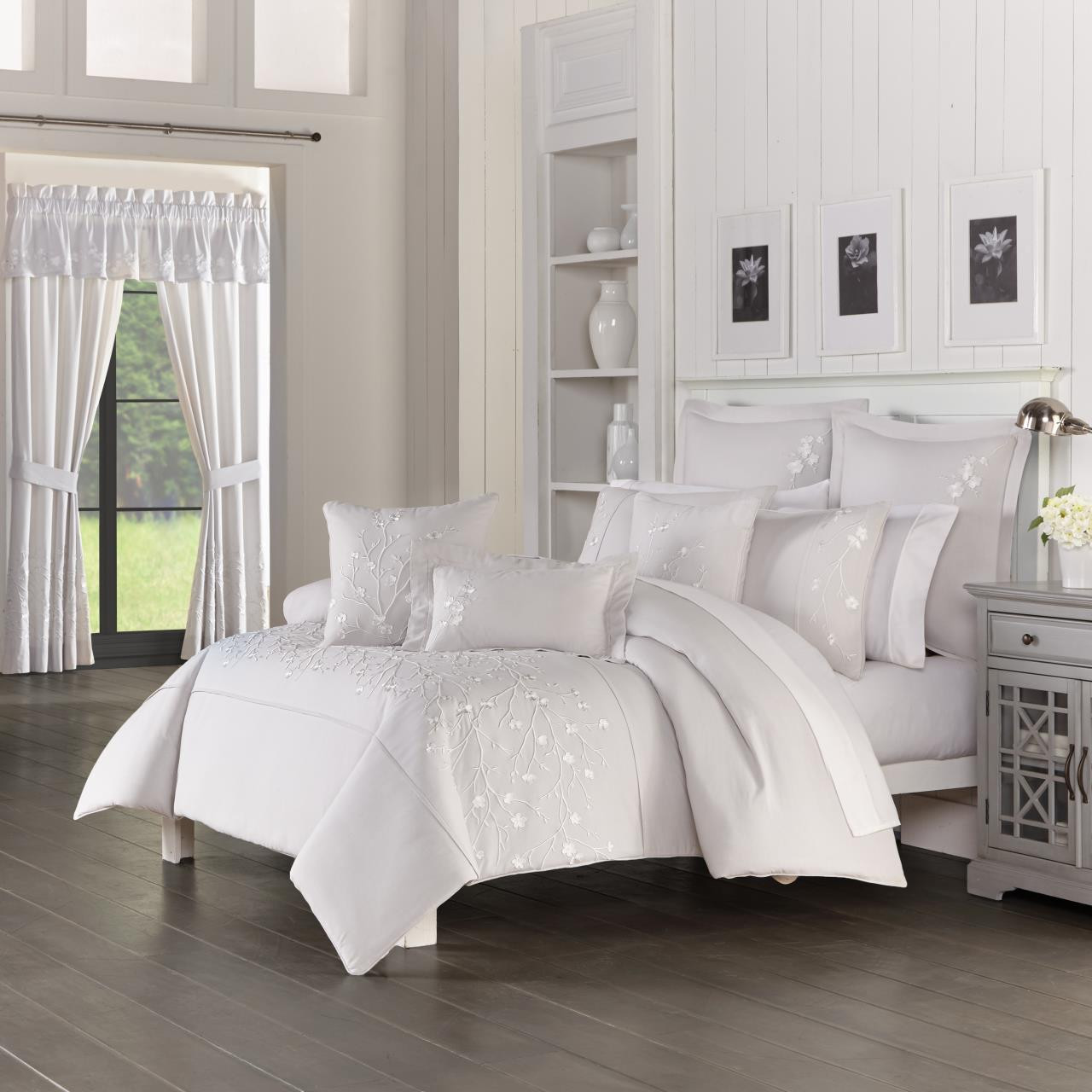 Cherry Blossom Grey Comforter Collection -
