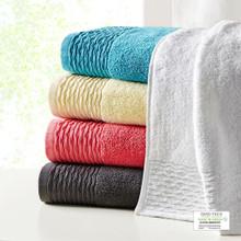 Breeze Cotton Wavy Border 6 Piece Towel Set - 086569020031