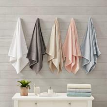 Spa Waffle Cotton Jacquard Towel Set - 086569036513