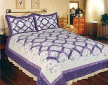 Lilac Trellis Quilt Collection -