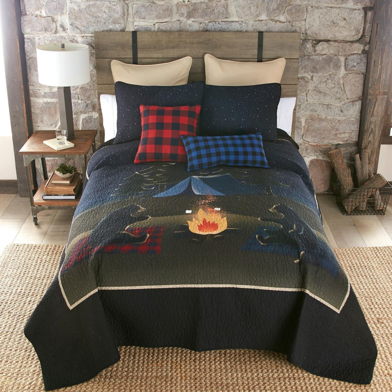Bear Campfire Quilt Collection -