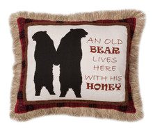 Old Bear Lives Here Pillow - 357311310688