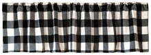 Black & White Lumberjack Buffalo Plaid Valance - 357311330310