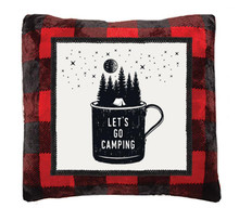 Red Buffalo Plaid Camping Rustic Pillow - 357311327440