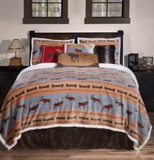 Moose Tracks Rustic Cabin Bedding Collection -