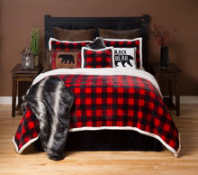 Red Lumberjack Buffalo Plaid Bedding Collection -