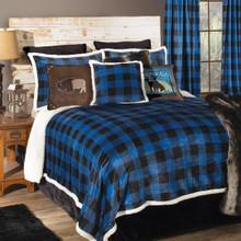 Wrangler Blue Lumberjack Buffalo Plaid Comforter Collection -