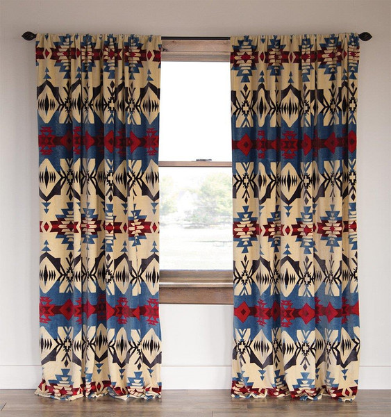Blue River Southwestern Curtain Pair - 357311309620