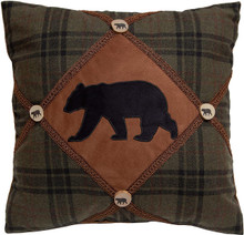 Bear and Bear Buttons Rustic Cabin Pillow - 357311335056