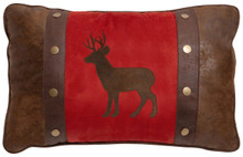 Buck and Rivets Rustic Cabin Pillow - 357311335292