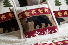 Tall Pine Rustic Cabin Pillow - 357311279862