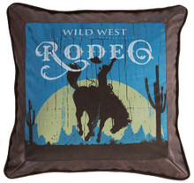 Wrangler Faux Leather Rodeo Pillow - 357311328058