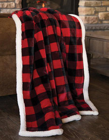 Red Lumberjack Plaid Throw - 357311296692