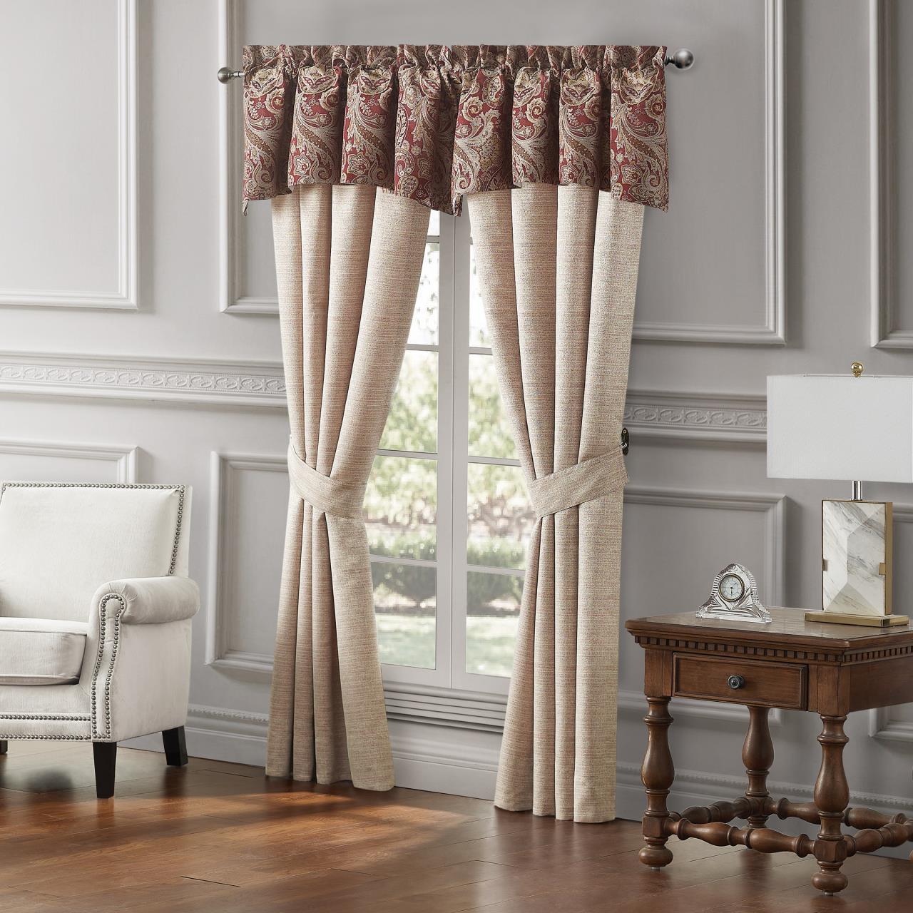 Danehill Red Curtain Pair - 038992940240