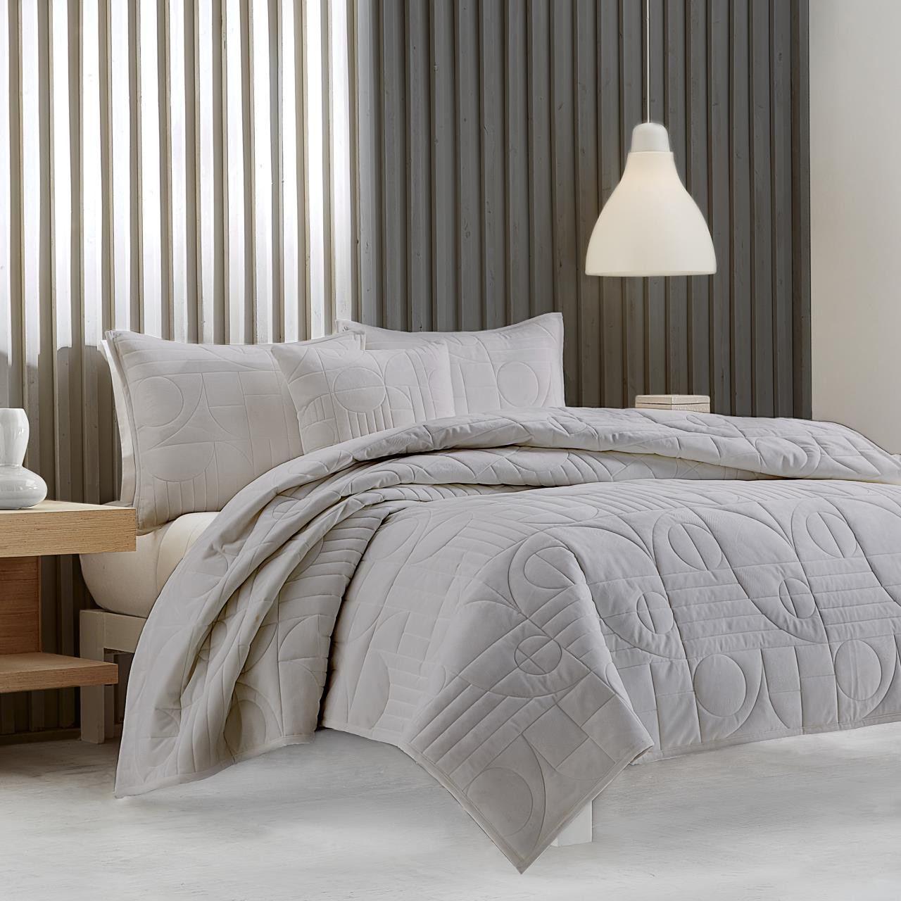 Bryant Grey Quilt Collection -