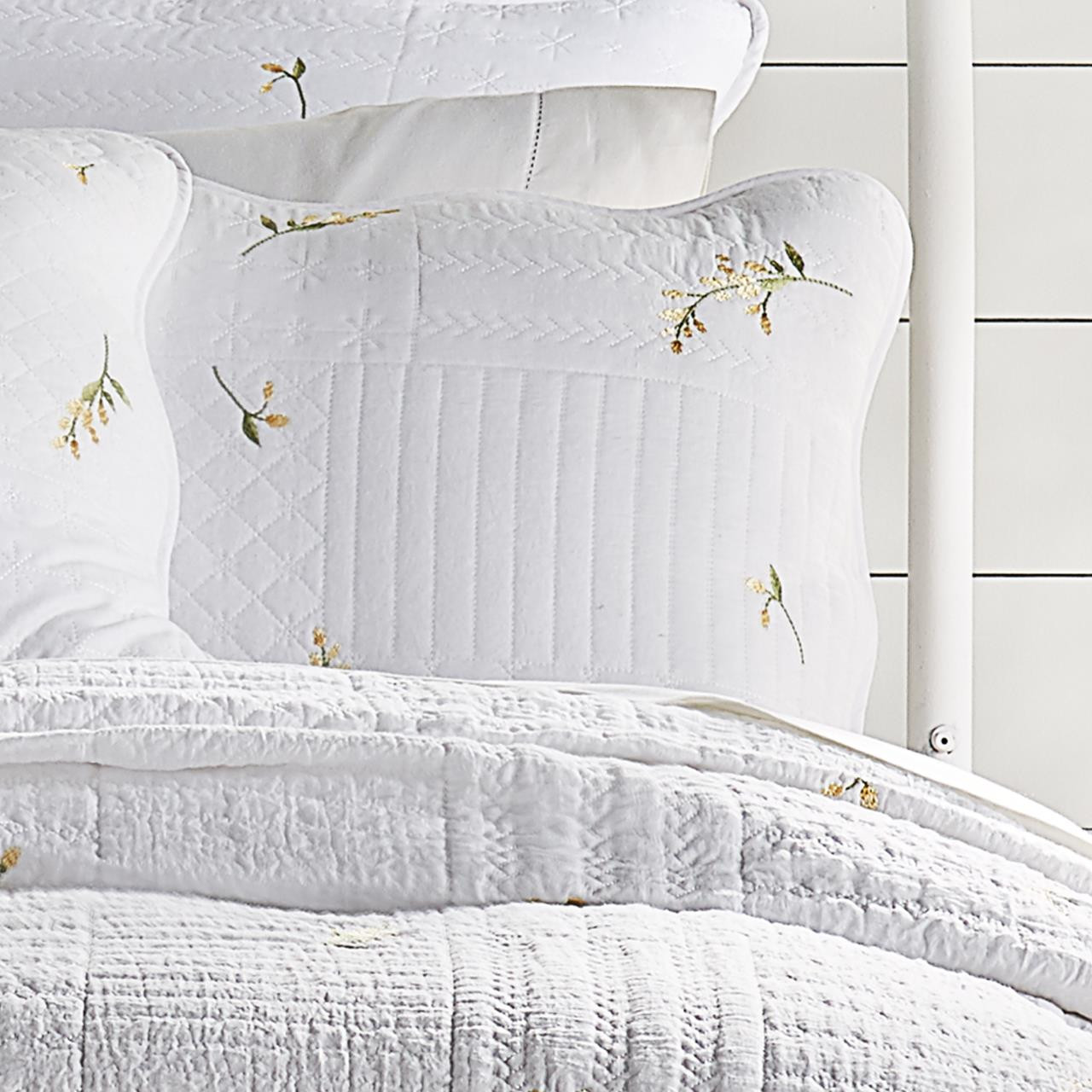 Sandra White Quilted Sham By Piper Wright Paul S Home Fashions