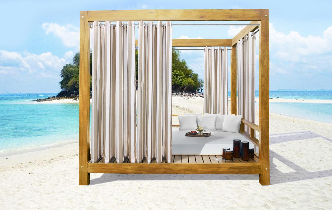 Seascapes Striped Grommet Outdoor Curtain Pair - 695565776028