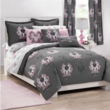 Bone Collector Pink and Gray Bedding Collection -