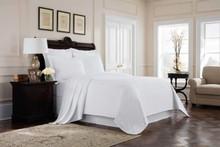 Richmond White Matelasse Coverlet - 048975017623