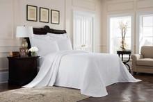 Richmond White Matelasse Bedspread - 048975017661