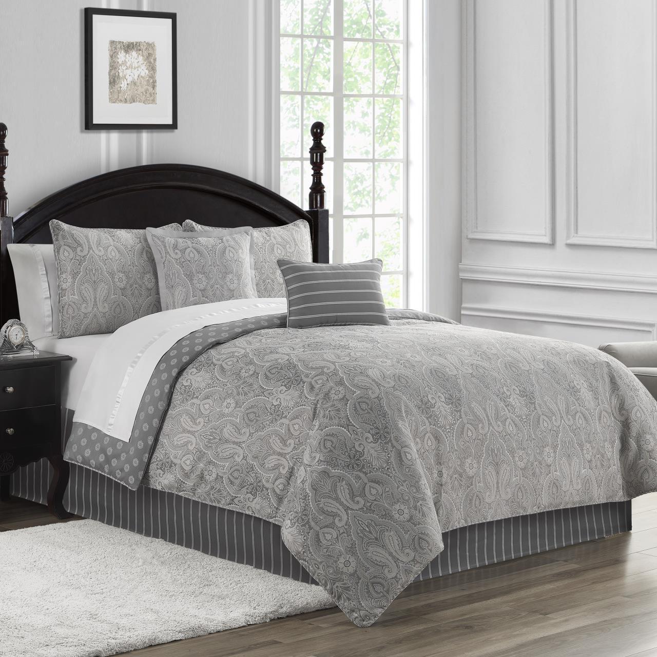 Catalina Grey Comforter Collection -