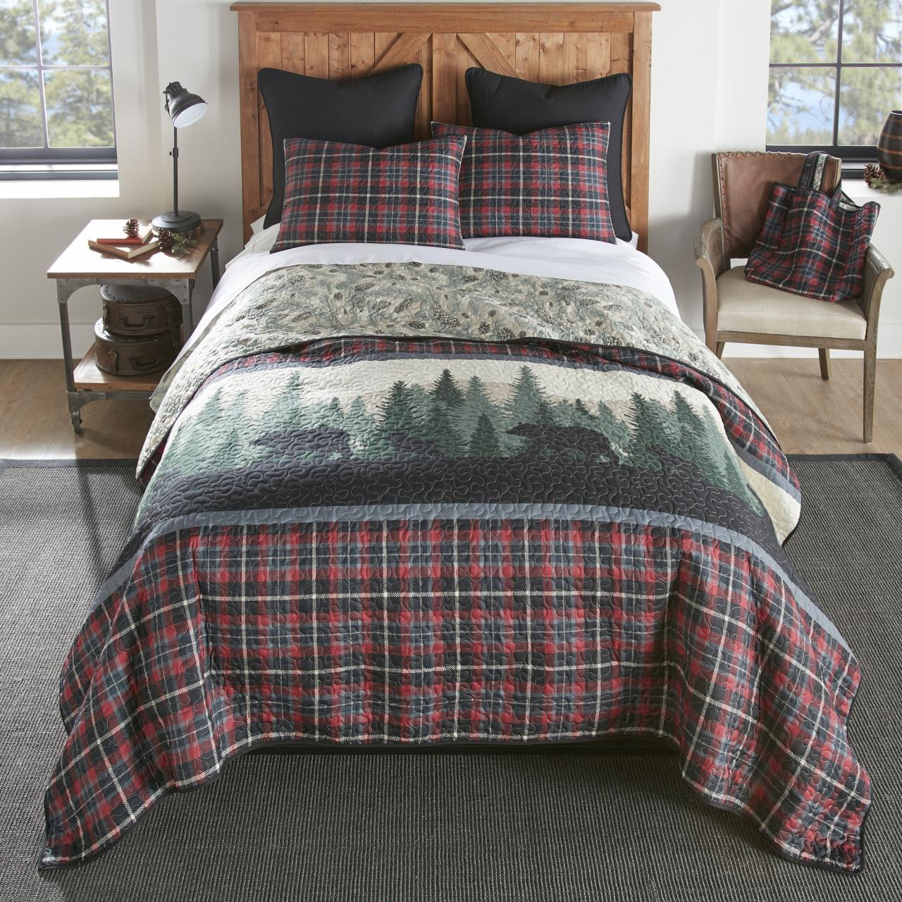 Bear Journey Red Bedding Collection -
