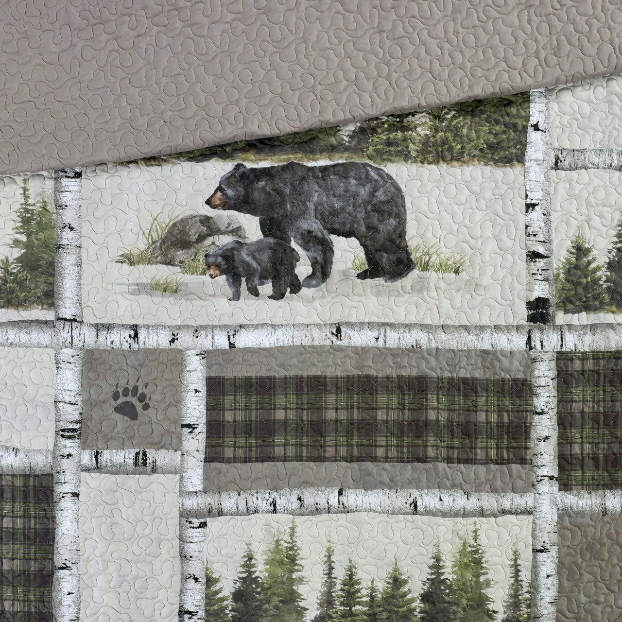 Bear Panels Throw - 754069334582