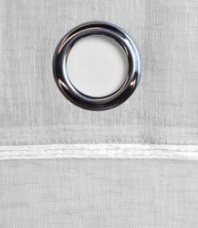 Horizon Stripe Sheer Grommet Curtain Panel - 842249031540
