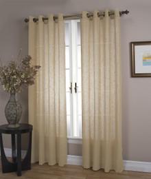 Shannon Sheer Linen Grommet Curtain Panel - 842249039263
