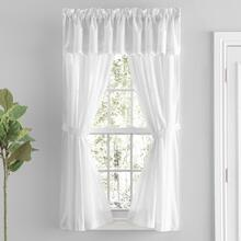 Simplicity Sheer Lace Curtain Pair w/ Tiebacks - 842249041990