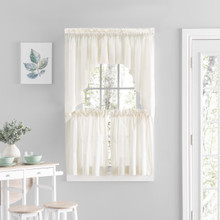 Simplicity Sheer Lace Tier Curtains - 842249041976