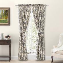 Waverly Gardens Floral Curtain Pair w/ Tiebacks - 842249046148