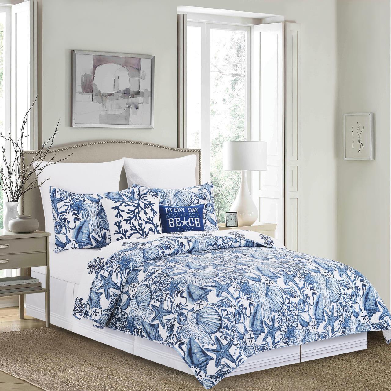 Blue Coast Shells Quilt Collection -