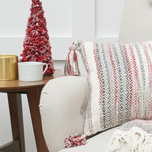 Cozy Nordic Christmas Grey Pillow - 8246785217